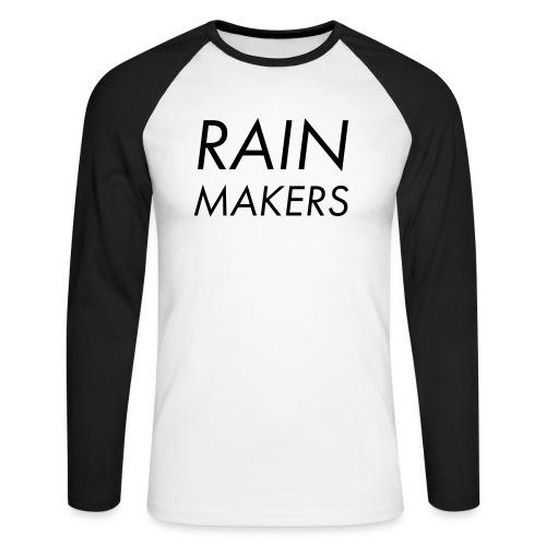 rainmakertext - Miesten pitkähihainen baseballpaita