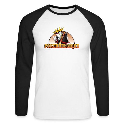 Logo Poker Belgique - T-shirt baseball manches longues Homme