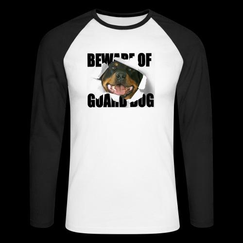 beware of guard dog - Men's Long Sleeve Baseball T-Shirt
