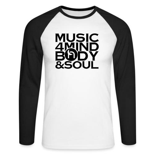 Music 4 Mind, Body & Soul Black - Men's Long Sleeve Baseball T-Shirt