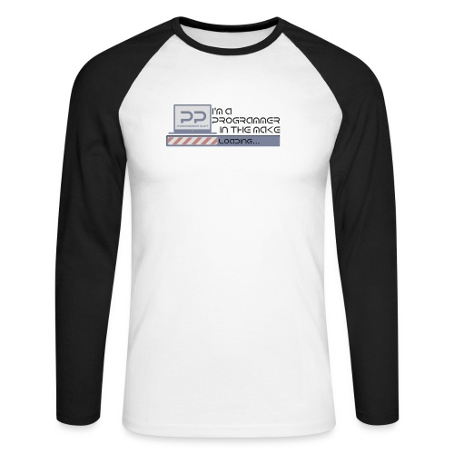i m a programmer in the make - Mannen baseballshirt lange mouw