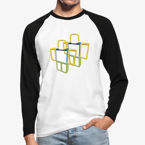 Sqaure Noob Person - Men's Long Sleeve Baseball T-Shirt
