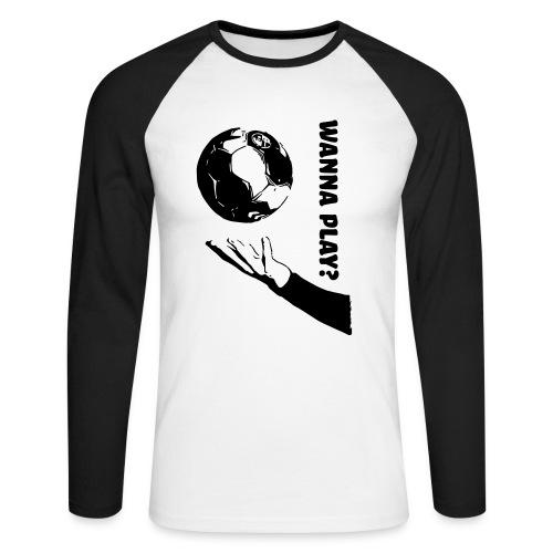 Wanna Play Handball - Langærmet herre-baseballshirt