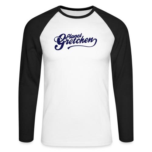 Planet Gretchen svart - Långärmad basebolltröja herr