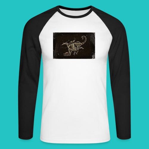 skorpion_grafika-jpg - Koszulka męska bejsbolowa z długim rękawem
