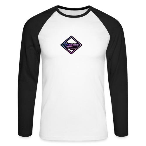 jordan sennior logo - Men's Long Sleeve Baseball T-Shirt