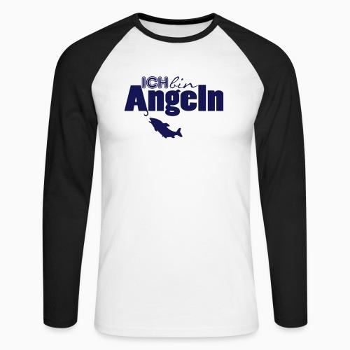 Ich bin Angeln - Männer Baseballshirt langarm