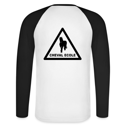 chevalecoletshirt - T-shirt baseball manches longues Homme