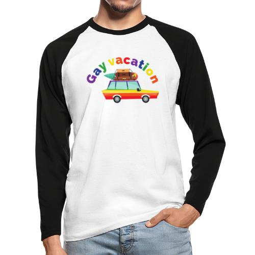 Gay Vacation   LGBT   Pride - Männer Baseballshirt langarm