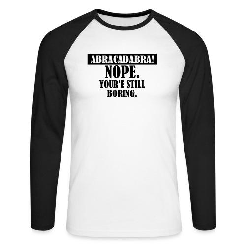 Abracadabra, Swag, Yolo, , Keep Calm, Hipster - Männer Baseballshirt langarm