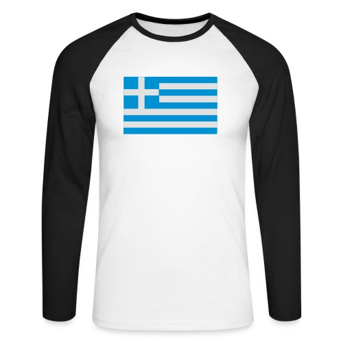 griechenland - Männer Baseballshirt langarm