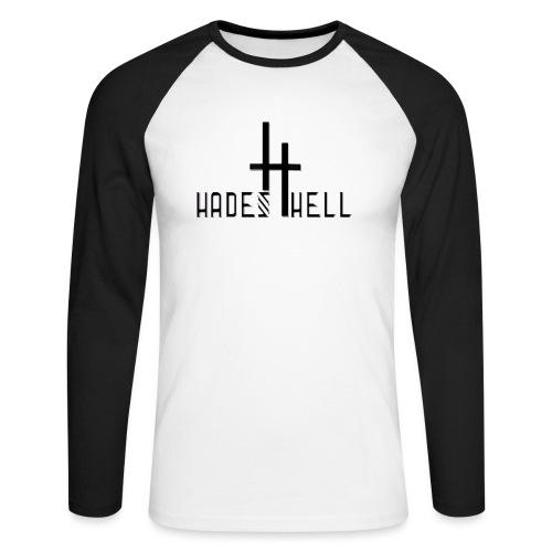 hadeshell black 3D - Männer Baseballshirt langarm