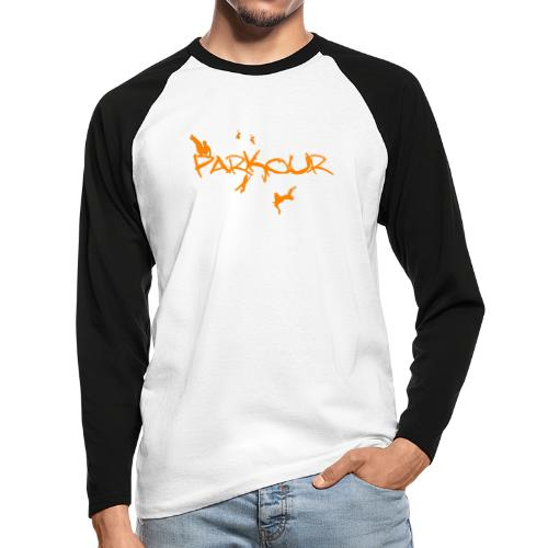 Parkour Orange - Langærmet herre-baseballshirt