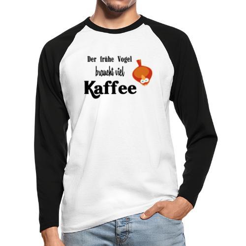 kaffeeVogel.png - Männer Baseballshirt langarm