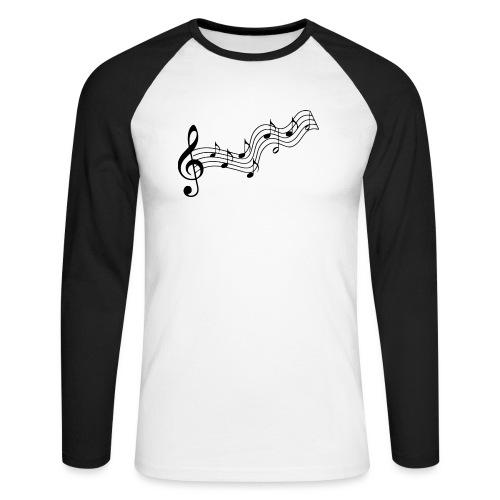 Musiknoten - Männer Baseballshirt langarm