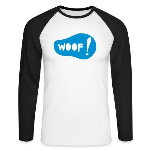 Woof! T-Shirt - Männer Baseballshirt langarm