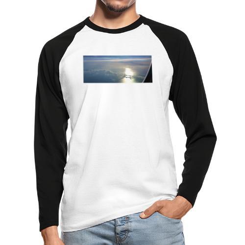Flugzeug Himmel Wolken Australien - 3. Motiv - Männer Baseballshirt langarm