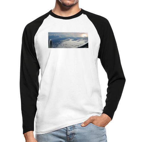Flugzeug Himmel Wolken Australien - 2. Motiv - Männer Baseballshirt langarm