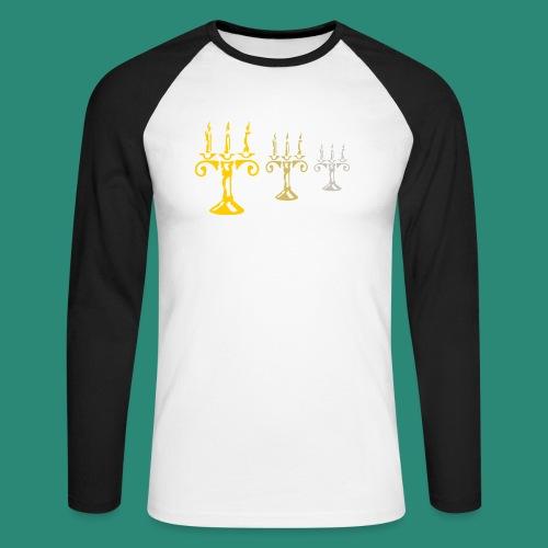 edles Kerzenlicht - Männer Baseballshirt langarm