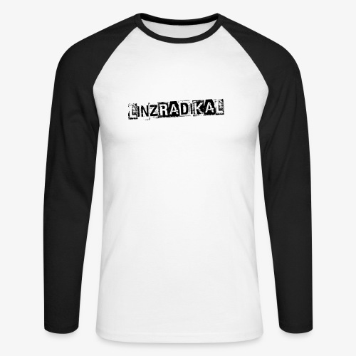 Linzradikal schwarz - Männer Baseballshirt langarm