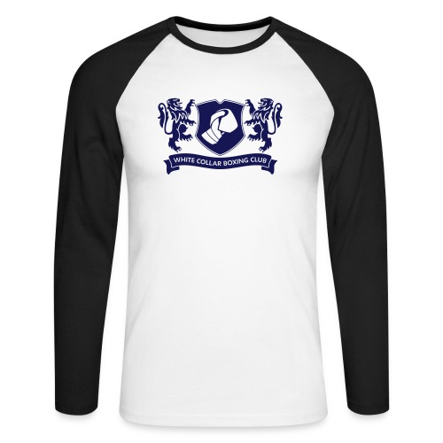 White Collar Boxing Hoodie Classic-Blue - Männer Baseballshirt langarm