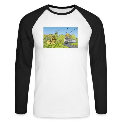 Raupe und Zug - Männer Baseballshirt langarm