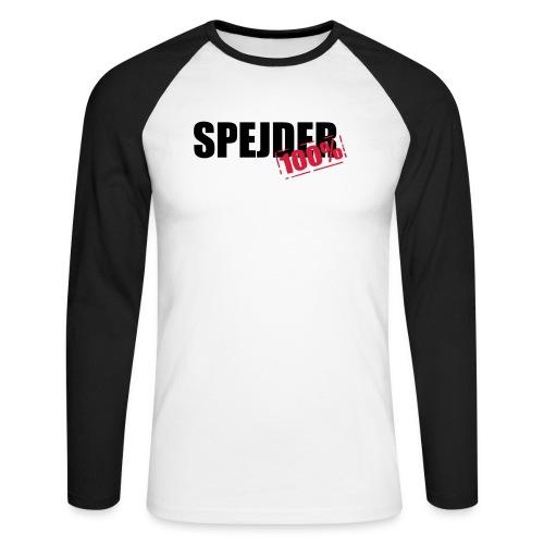 100procent spejder stempel - Langærmet herre-baseballshirt
