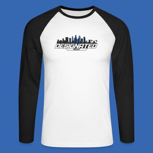 Designated Black - Männer Baseballshirt langarm