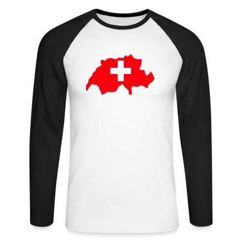 Switzerland - Mannen baseballshirt lange mouw