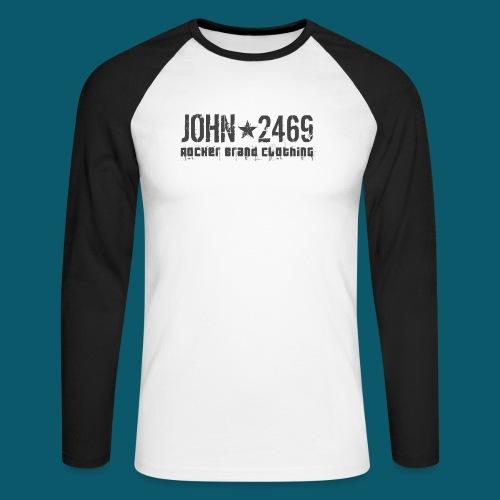 JOHN2469 prova per spread - Maglia da baseball a manica lunga da uomo