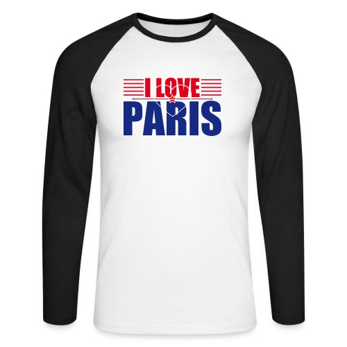 love paris - T-shirt baseball manches longues Homme