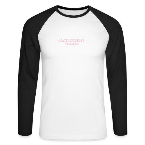 #jatilspinraza - rosa - Langermet baseball-skjorte for menn