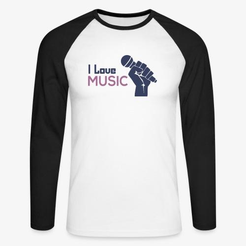 Amo la música - Raglán manga larga hombre