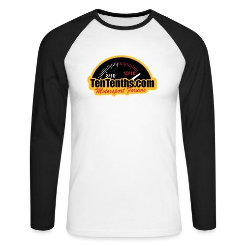 3Colour_Logo - Men's Long Sleeve Baseball T-Shirt
