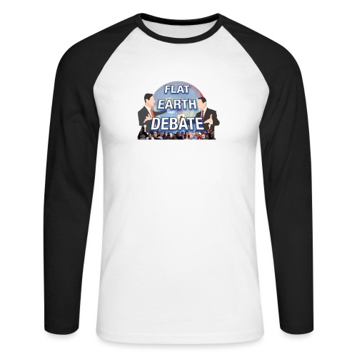 Flat Earth Debate Transparent - Men's Long Sleeve Baseball T-Shirt
