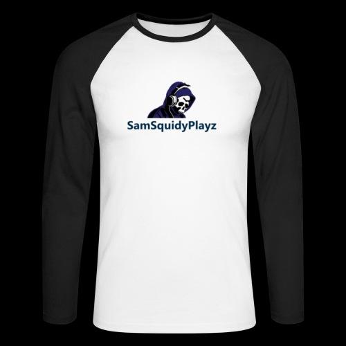 SamSquidyplayz skeleton - Men's Long Sleeve Baseball T-Shirt
