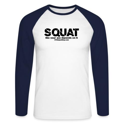 squat - Men's Long Sleeve Baseball T-Shirt