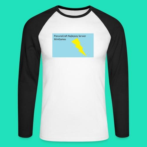 Koszulka Dla Dzieci PiorunoCraft - Koszulka męska bejsbolowa z długim rękawem