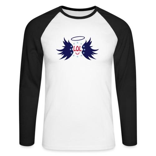 Tablier de cuisine : LOL avec aile ange - Men's Long Sleeve Baseball T-Shirt