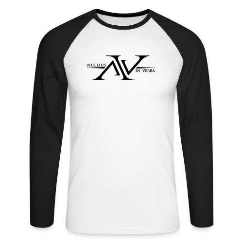 Nullius In Verba Logo - Men's Long Sleeve Baseball T-Shirt