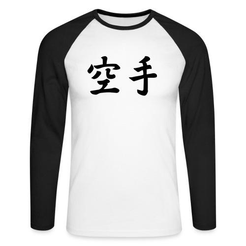 karate - Mannen baseballshirt lange mouw