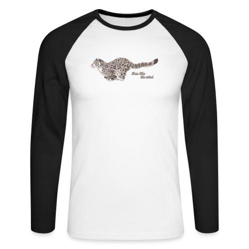 Snow Leopard: Run Like the Wind - Koszulka męska bejsbolowa z długim rękawem