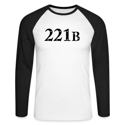Sherlock Holmes - 221B - Männer Baseballshirt langarm