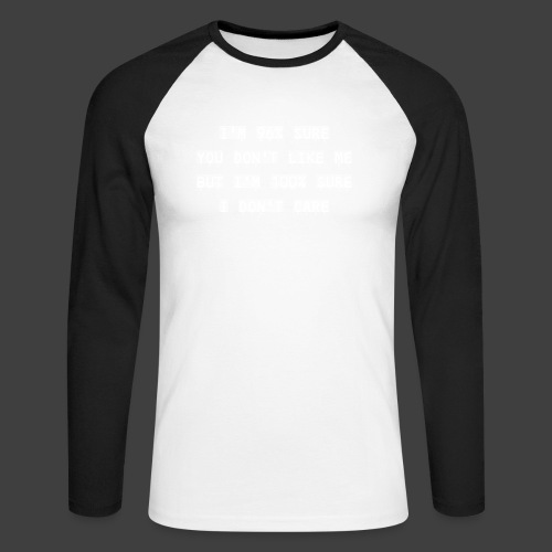 96% - Men's Long Sleeve Baseball T-Shirt