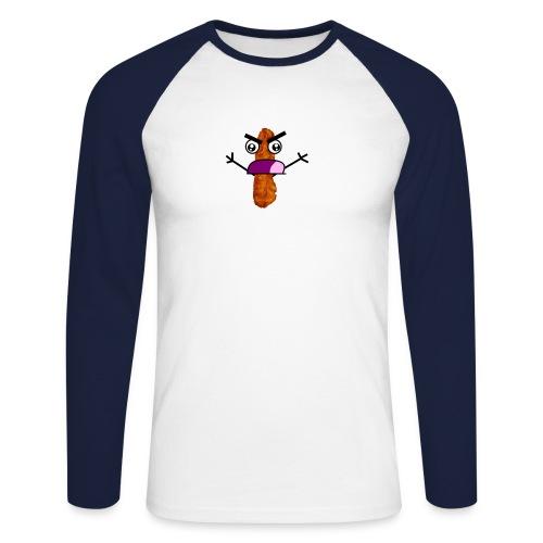 Bacon Man T-Shirt! - Men's Long Sleeve Baseball T-Shirt
