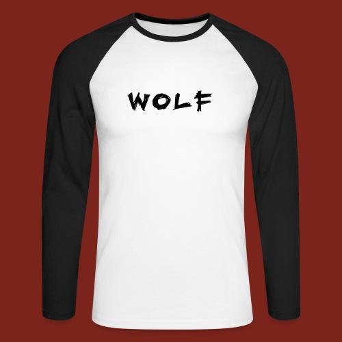 Wolf Font png - Mannen baseballshirt lange mouw