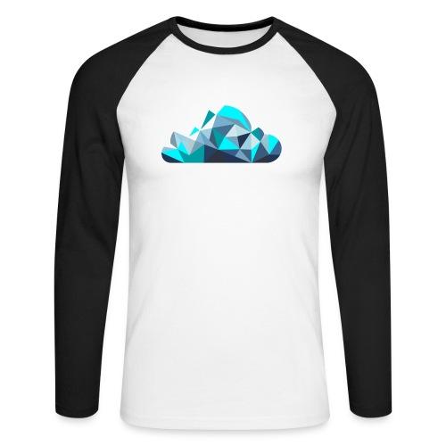 'CLOUD' Mens T-Shirt - Men's Long Sleeve Baseball T-Shirt