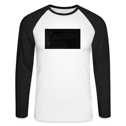 test dancing - Koszulka męska bejsbolowa z długim rękawem