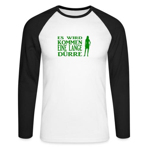 T-Shirt Dürre - Männer Baseballshirt langarm