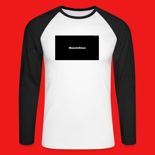 New - Langærmet herre-baseballshirt